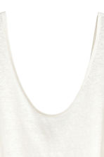 Linen jersey vest top - White - Ladies | H&M GB 3
